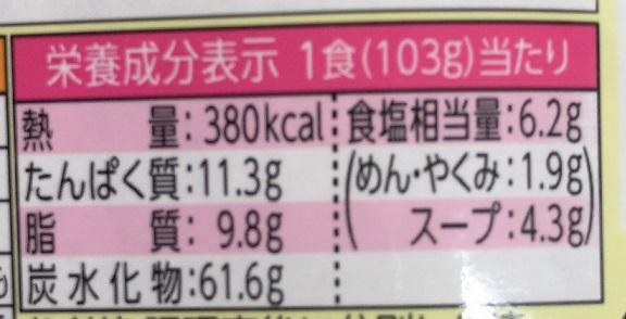 明星 中華三昧 赤坂榮林 酸辣湯麺 栄養成分表示