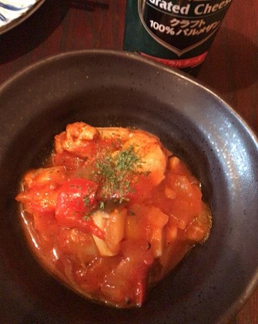 秋元屋 鶏と野菜のトマト煮