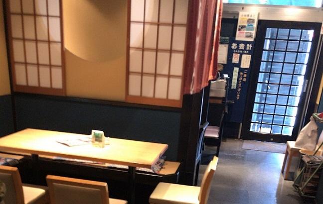 小田原 うおがし テーブルとイス