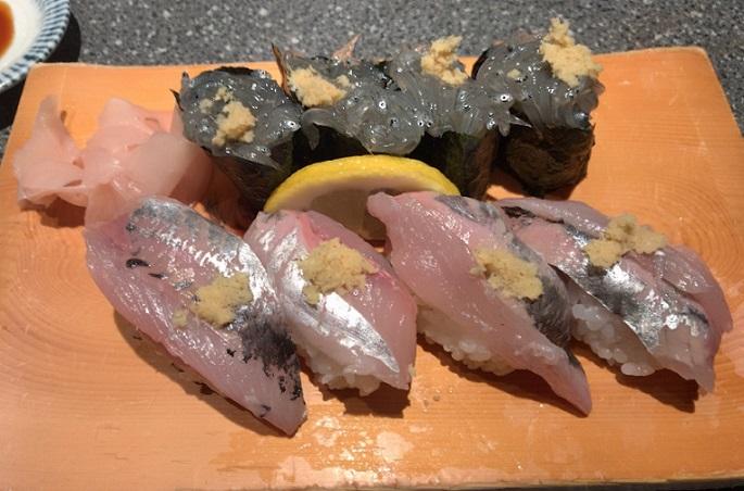 小田原 うおがし 鯵・しらす寿司