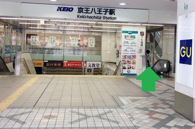 京王八王子駅改札まで