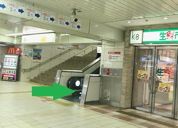 京王八王子駅中央口改札から乗り換え