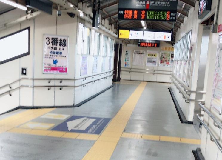 JR八王子駅乗り換え通路