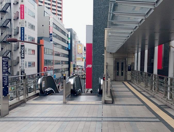 京王八王子駅からJR八王子駅まで