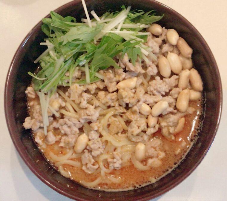 スーパーで購入 菊水の生ラーメン 175°DENO担担麺シビレ担担麺(汁あり)味