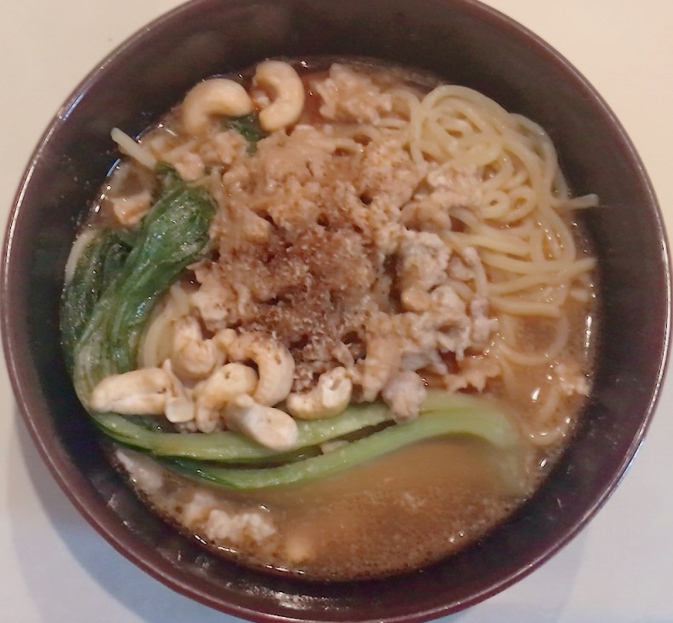 スーパーで購入 菊水の生ラーメン 175°DENO担担麺シビレ担担麺(汁あり)アレンジ