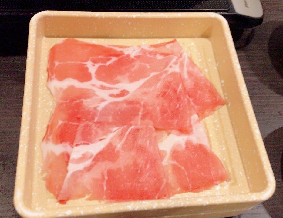 しゃぶ葉 豚ロースと豚バラの一皿のカロリー情報