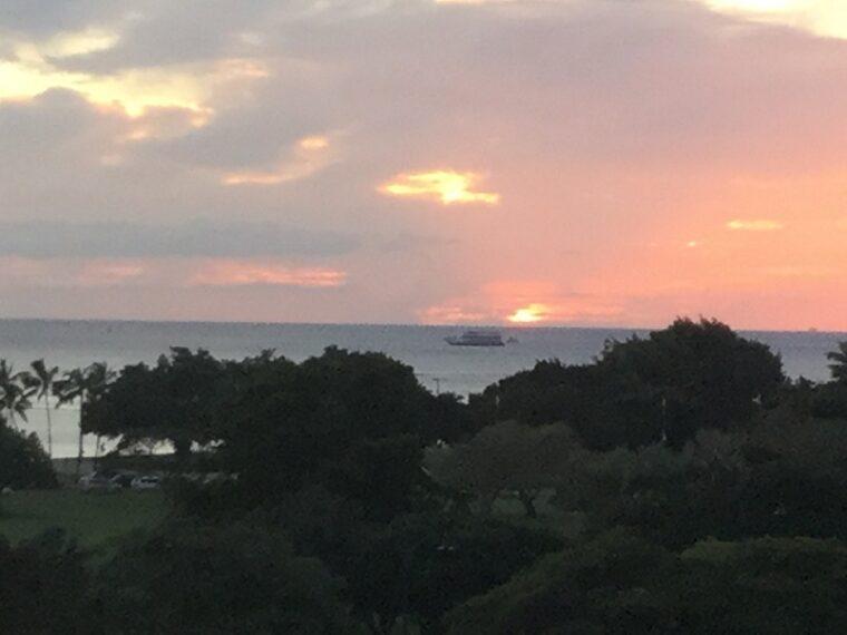マリポサの夕暮れの景色