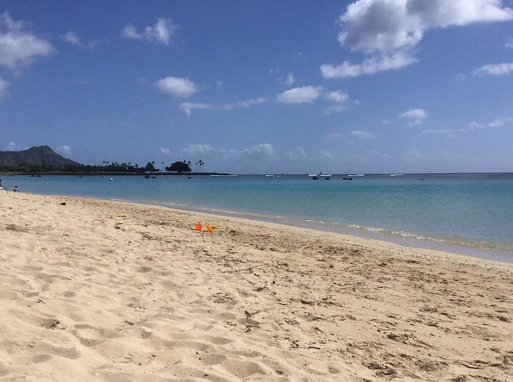 ハワイのビーチの景色