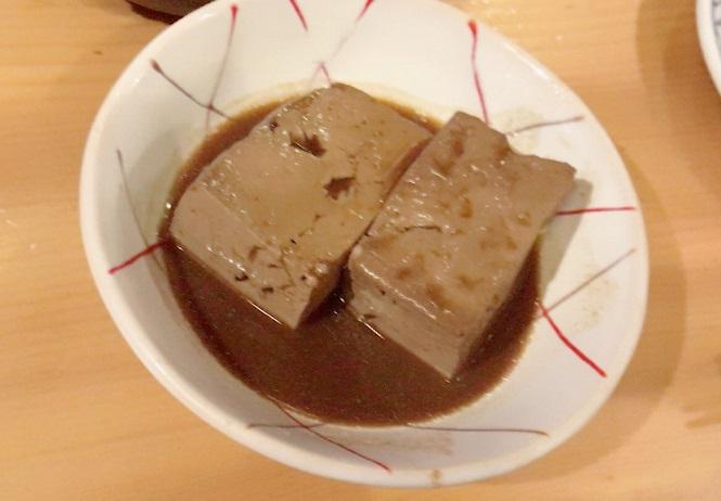 名古屋 栄駅のおでん&ワイン カモシヤの豆腐