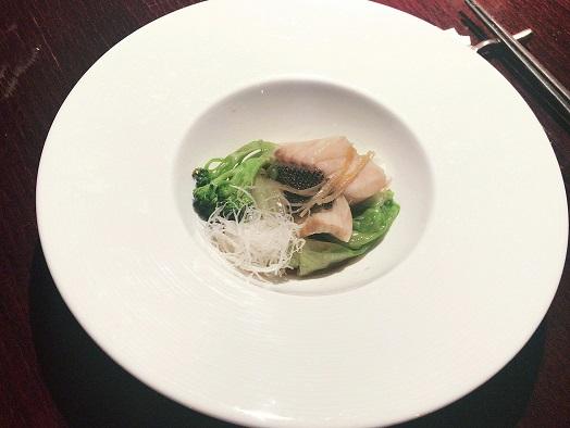 過門香 本日鮮魚の蒸し物 広州ソース