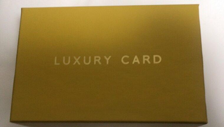 ラグジュアリーカード ゴールドの箱