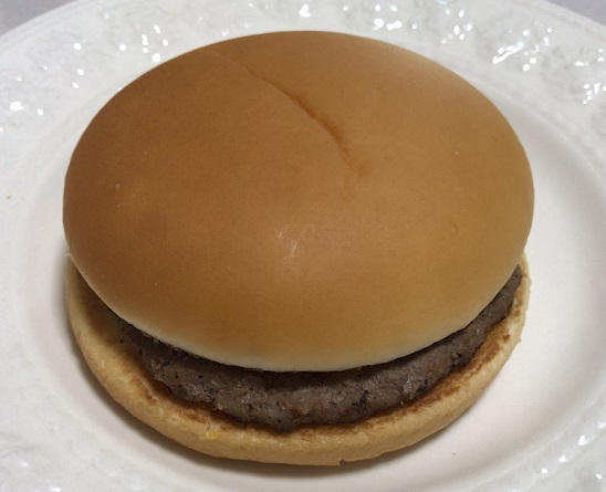 ケチャップ抜きにしたマクドナルドのハンバーガー