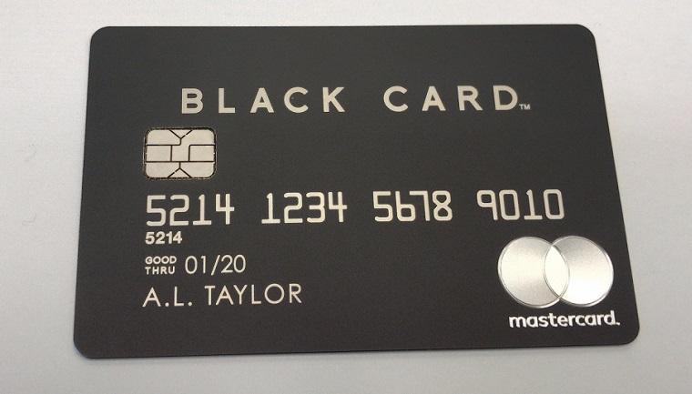 ラグジュアリーカードのブラック