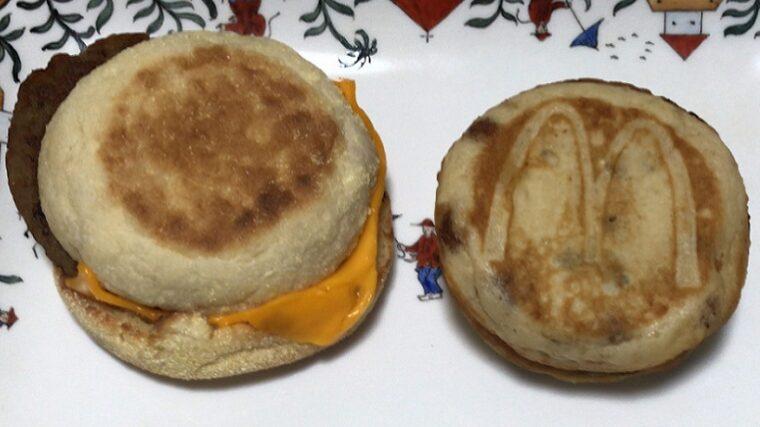 マクドナルドのマックグリドルとマフィン