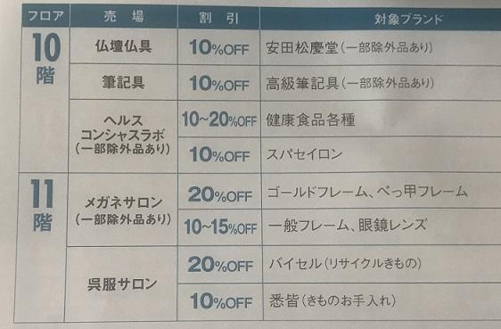 新宿高島屋10F11F ウエルカムデイズ