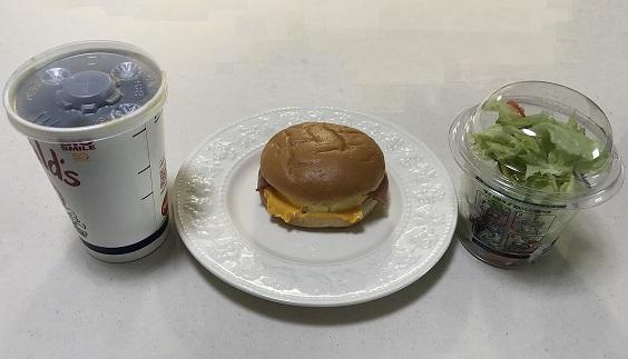 マクドナルドのベーコンエッグマックサンドセット